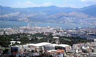 Izmir International Fair - İzmir International Fair seen from Kadifekale
