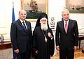 Συνάντηση ΥΠΕΞ Δ. Αβραμόπουλου με Αρχιεπίσκοπο Τιράνων, Δυρραχίου και πάσης Αλβανίας κ. Αναστάσιο (7602867040).jpg