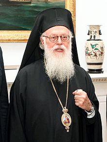 Seine Seligkeit Anastasios Yannulatos Erzbischof von Tirana, Durazzo, Elbasan und ganz Albanien