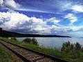 Железная дорога с видом на Байкал.JPG