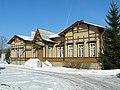 Здание вокзала ст. Ливберзе - Līvbērzes stacijas ēka (1).jpg