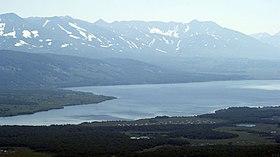 Вид на Начикинское озеро с Перлитовой сопки