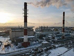 Санкт-Петербург, Выборгская ТЭЦ сверху зимой.jpg