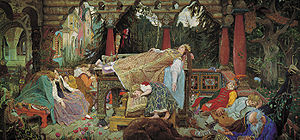 """Sleeping Princess"" by Viktor Vasnetsov"