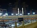 الكعبة المشرفة وتظهر أجزاء من أبراج مكة - panoramio.jpg