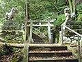 大淀町芦原 姫神社の鳥居と狛犬 2011.7.28 - panoramio.jpg