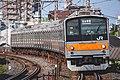 武蔵野線 205系 M8編成 南浦和カーブ.jpg