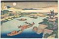 雪月花 淀川-Moonlight on the Yodo River (Yodogawa), from the series Snow, Moon, and Flowers (Setsugekka) MET DP141241.jpg