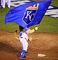 -WorldSeries Game 1- Sluggerrr celebrates (22495299049).jpg
