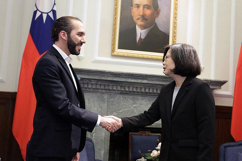 Nayib Bukele, presidente de El Salvador, con la presidenta Tsai de Taiwán. Autor: 總統府, 23/02/2017. Fuente: Flickr (CC BY 2.0)
