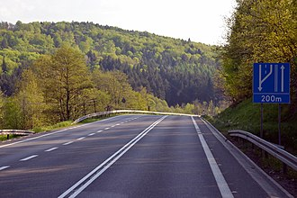 National road 9 (Poland) - The National Road 9 in Niebylec.