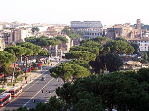 Largest capital cities of the European Union - Image: 063Via Fori Imperiali