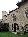 066 Castell de Santa Florentina (Canet de Mar), pati, façana de la capella.JPG