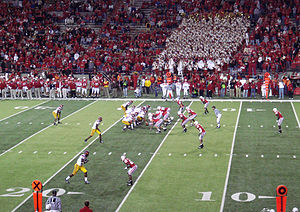 Blackshirts (American football) - The Blackshirts on the field against USC, September 15, 2007