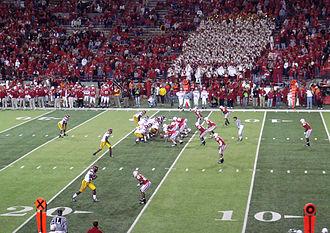 Blackshirts (American football) - The Blackshirts on the field against USC, September 15, 2007