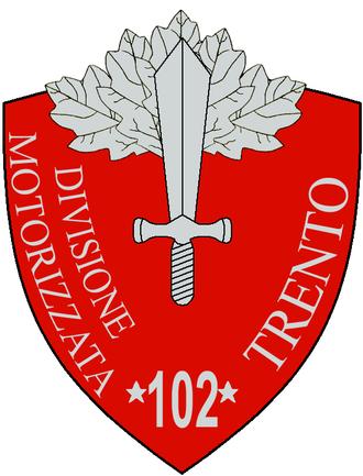 102nd Motorised Division Trento - 102a Motorised Division Trento Insignia