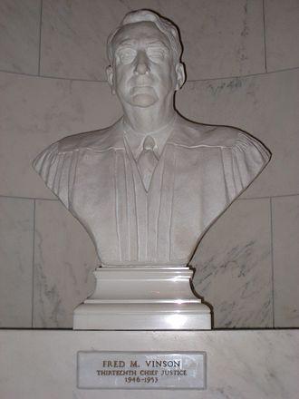 Fred M. Vinson - Fred M. Vinson bust, U.S. Supreme Court, Washington, D.C.. Sculptor Jimilu Mason