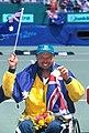 141100 - Wheelchair tennis David Hall gold medal - 3b - 2000 Sydney medal photo.jpg