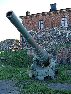 6 inch 35 caliber naval gun 1877 - Russian 6 inch 35 caliber naval gun in Suomenlinna