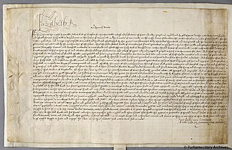 Lord Leycester Hospital - The 1571 Leicester Hospital Act, licensing the Earl of Leicester to found a hospital in Warwick