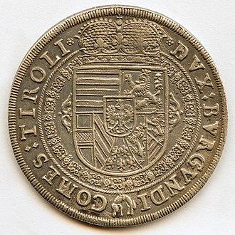 Leopold V, Archduke of Austria - Image: 1632 Leopold V von Oesterreich Tirol Revers