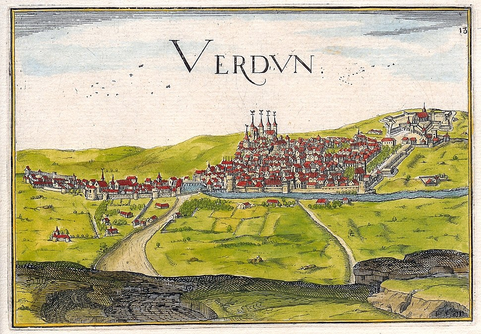 1638 Tassin view of Verdun edited reduced