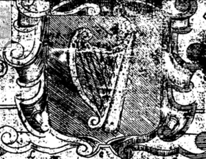 Flag and coat of arms of Leinster - 1651 depiction of the arms of Leinster