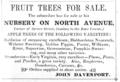 1849 Davenport tree nursery North Avenue advert Cambridge Directory Massachusetts US.png