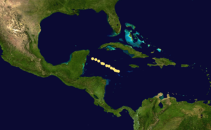1868 Atlantic hurricane season - Image: 1868 Atlantic hurricane 3 track