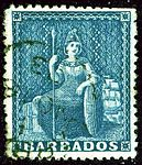 1873 Blue Barbados star Yv20 Mi17C SG52.jpg