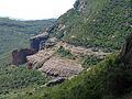 188 Roca Rodona, als cingles de la Pineda, des del camí de l'Ermita, Sant Miquel del Fai.JPG