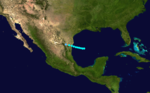 1916 Atlantic tropical storm 5 track.png