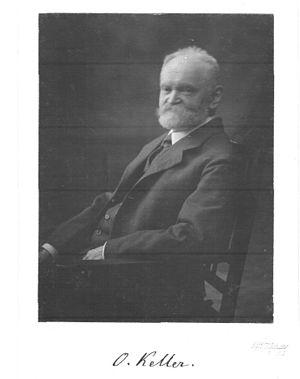 Otto Keller (philologist) - Otto Keller, 1918 photograph.