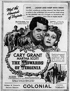 <i>The Howards of Virginia</i> 1940 film by Frank Lloyd