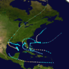 1941 Atlantic hurricane paths