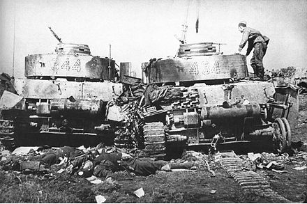 Two destroyed Panzer IV tanks belonging to the 20th Panzer Division, June 1944 19440628 destroyed panzer iv 20. panzer division bobruisk.jpg