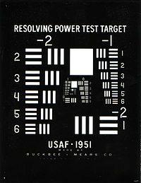 1951 USAF resolution test chart - Wikipedia
