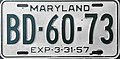 1956-57 Maryland license plate.jpg