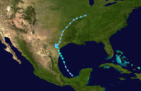 1960 Atlantic tropical storm 1 track.png