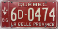 1966 Québec license plate 6D-0474.png