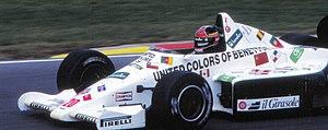 Piercarlo Ghinzani - Ghinzani during practice for the 1985 European Grand Prix