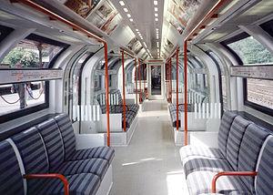 London Underground 1986 Stock - Image: 1986 Prototype Red Inside