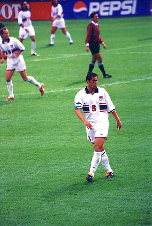 John Harkes - Harkes playing in a World Cup qualifying match in 1997