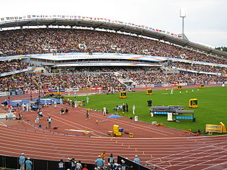 Ullevi - The east stand of Ullevi during the 2006 European Athletics Championships