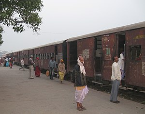 Janakpur, Nepal - A train at Janakpur railway station.