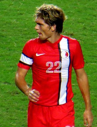 Jaimes McKee - McKee playing for Hong Kong against UAE on 15 October 2013.