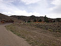2014-07-28 13 38 31 Occupied buildings near the entrance to Berlin, Nevada at Berlin-Ichthyosaur State Park.JPG