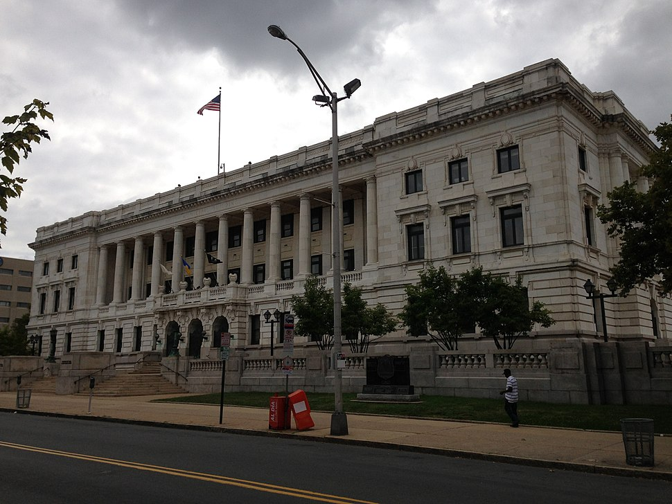 2014-08-30 10 53 29 View of Trenton City Hall in Trenton, New Jersey from the northwest