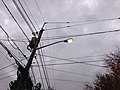 2014-10-31 17 58 13 Recently activated mercury vapor street light along Terrace Boulevard in Ewing, New Jersey.JPG