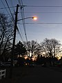 2014-12-26 16 52 58 Sodium vapor street light just after turning on for the night on Terrace Boulevard at Dunmore Avenue in Ewing, New Jersey.JPG